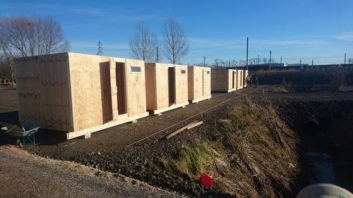 New shelters in Grande Synthe