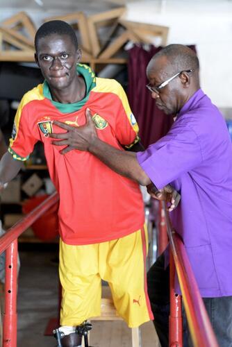 Physiotherapy at SICA hospital, Bangui