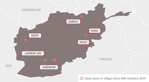 Afghanistan MSF Projects in 2019