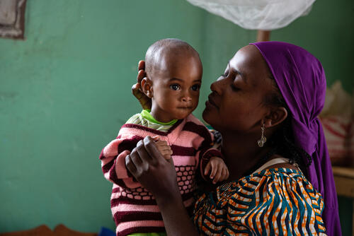 MSF Measles Intervention Baboua: Assiatou and Bistria