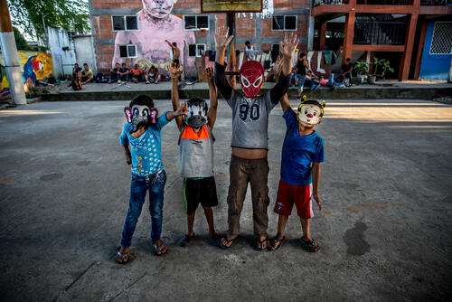 Migrants and Refugees in Mexico shelters
