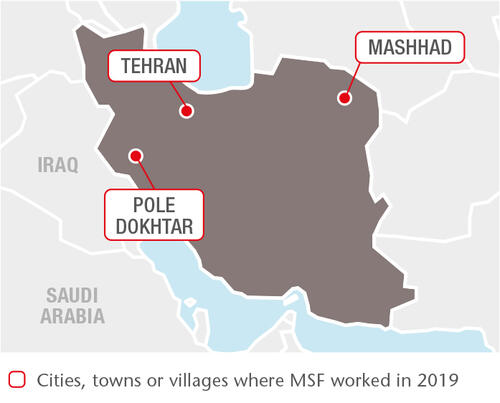 Iran MSF projects in 2019