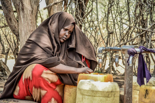 38-year-old Janai Issack Aden has been living in Dagahaley since 1991. She fled violence in Somalia with her parents and siblings, settling in the camp