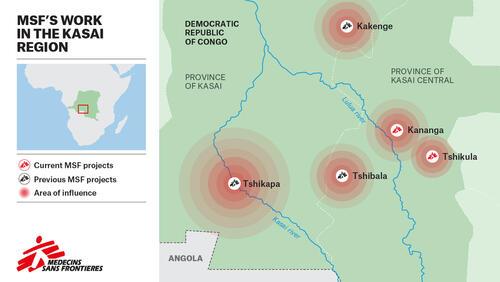MSF Work in Kasai Region Map – EN