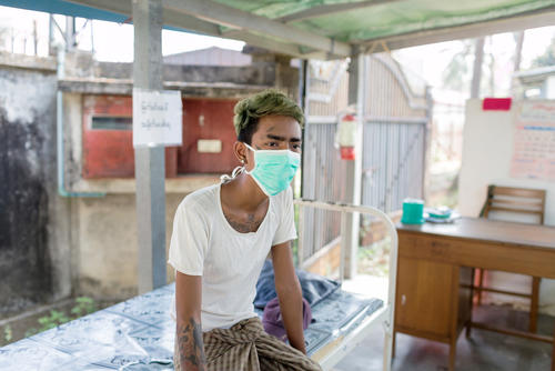 Insein clinic, for treatment for HIV, TB, and Hepatitis C in Yangon. By Alessandro Penso, Feb 2018.