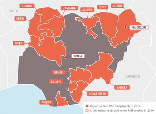 Nigeria MSF projects in 2019