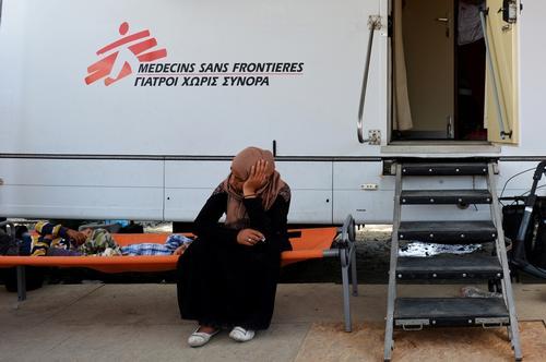 Mothers in MSF clinic, Idomeni Greece.
