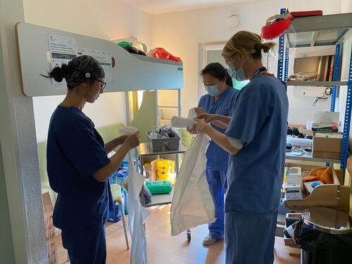 MSF medics at the London COVID Care Centre