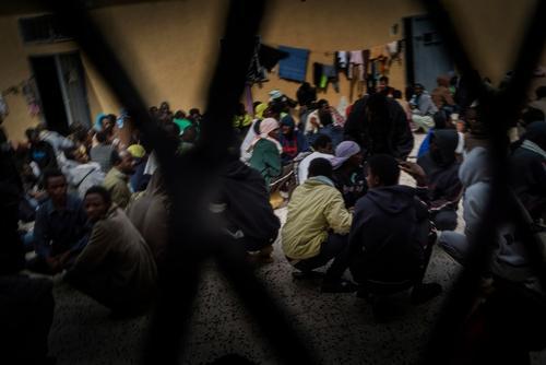 Migrants Detention Centers Libya 2016