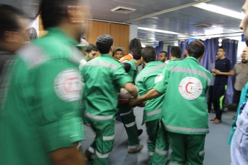 A night in Al Shifa Hospital, Gaza City
