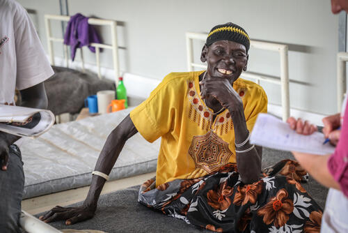 Nyandeng Goch, a snakebite patient in the IPD