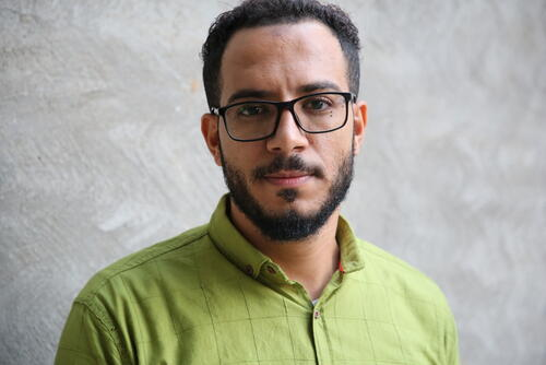 Mahmoud, lead health educator in Wadi Al Ameer