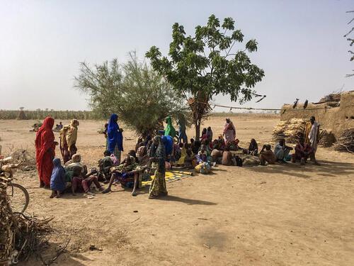 Bodo , Cameroon - People fleeing Rann