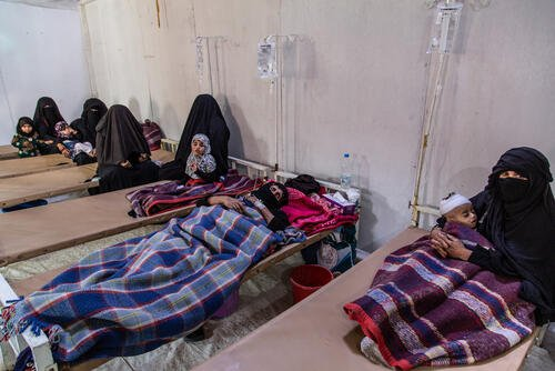Cholera response in Khamer, Amran hospital