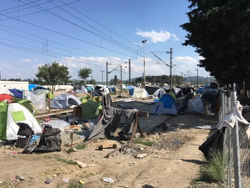 Idomeni camp eviction