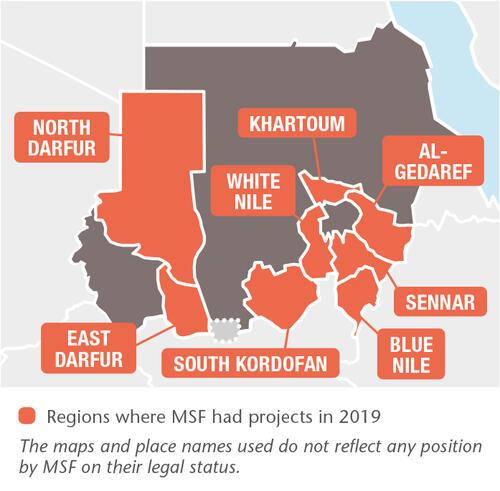 Sudan MSF projects in 2019