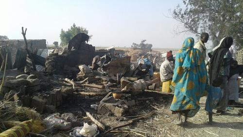 Victims of bombing on a displaced camp in Rann, Nigeria