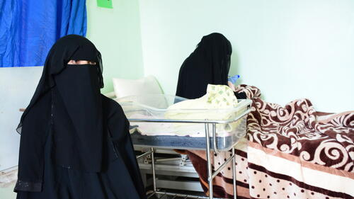 TESTIMONY (INT): Eftekar, Patient at Taiz Houban hospital - Mother and Child in Yemen