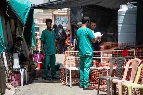 Cholera response in Khamer, Amran hospital