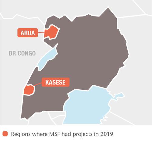 Uganda MSF projects in 2019