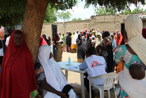 IDP camp in Maiduguri, Borno state