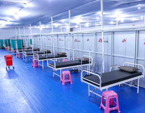 100-bed temporary hospital for COVID-19 patients