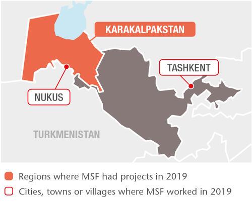 Uzbekistan MSF projects in 2019