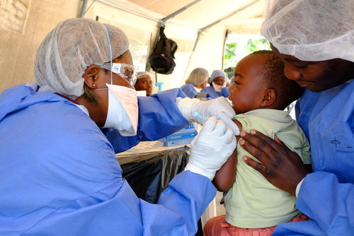 Centro de tratamiento del ébola en Beni