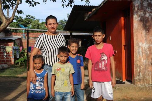 Venezuelan migrants in Arauca