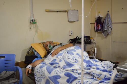 COVID-19 patient in Al-Kindy hospital, Baghdad