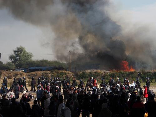 Third day of Calais Dismantlement