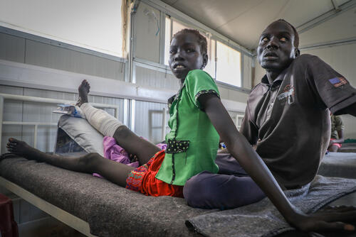 Arnal Lual, a snakebite patient in the post-op ward