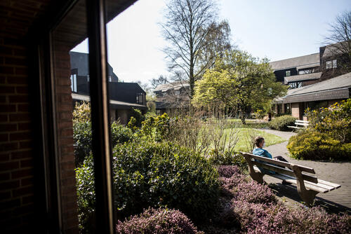 """COVID-19 MSF Mobile Team in retirement home """"Résidence Magnolia"""" in Jette, Brussels."""