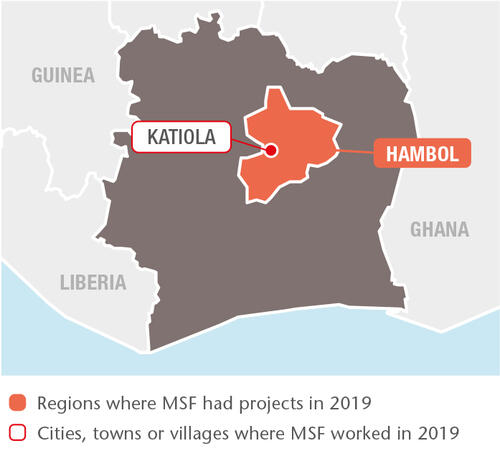 Ivory Coast MSF projects in 2019