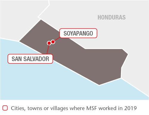 El Salvador MSF projects in 2019