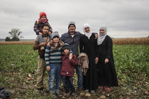 Family At The Sid-Tovarnik Border, Serbia