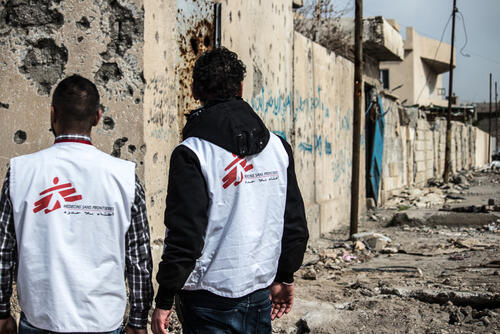 NFI distribution in Mosul's Old City