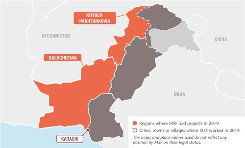 Pakistan MSF projects in 2019