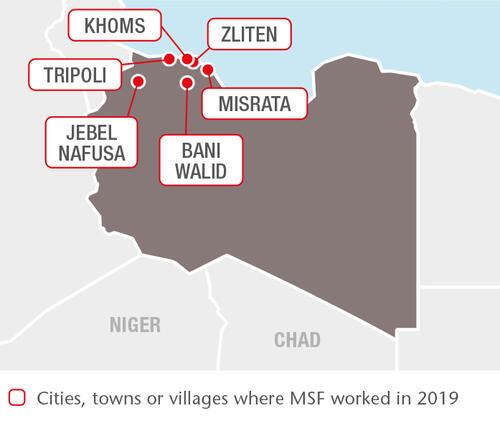 Libya MSF projects in 2019