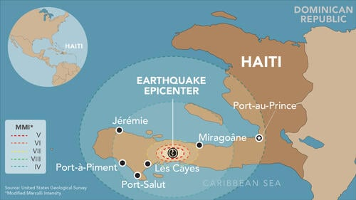 Haiti 2021 Earthquake Response Map