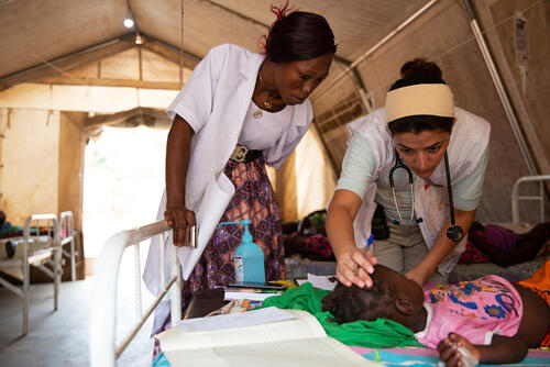 MSF Measles Intervention Bossangoa: Measles Hospital Ward