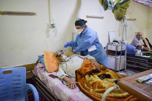 COVID-19 ward in Al-Kindy hospital, Baghdad