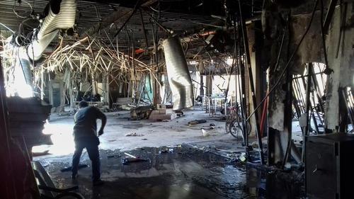 Health facilities damaged inside Mosul