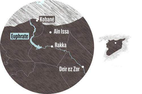 Syrienkarte - Rakka
