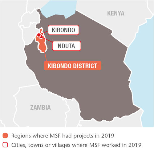 Tanzania MSF projects in 2019