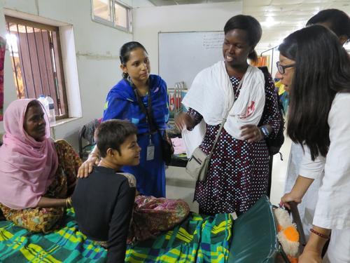 MSF President Joanne Liu visits emergency projects in Cox's Bazar, Bangladesh