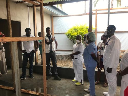 Isolation ward for coronavirus COVID-19 patients in Buea, Southwest region of Cameroon