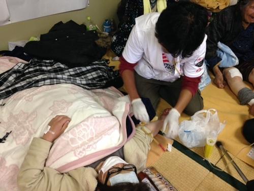 Earthquake in Kumamoto prefecture, Japan