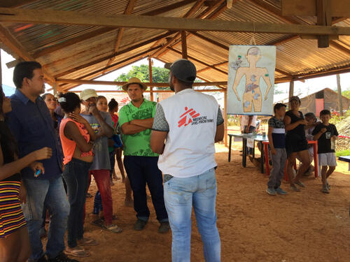 Bed net distribution in Sifontes, Bolivar State