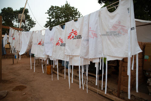 MSF Measles Intervention Baboua: Vaccination Team